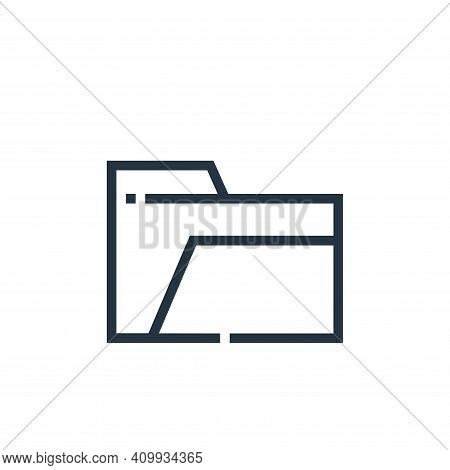 empty folder icon isolated on white background from web essentials collection. empty folder icon thi