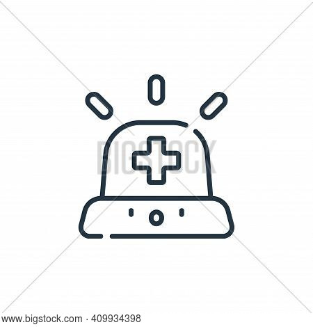 emergency icon isolated on white background from medical services collection. emergency icon thin li