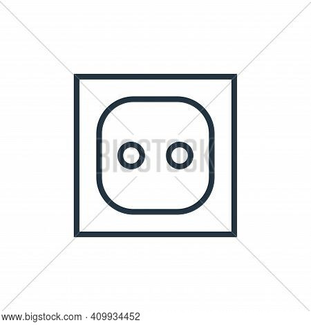 electric socket icon isolated on white background from hardware collection. electric socket icon thi