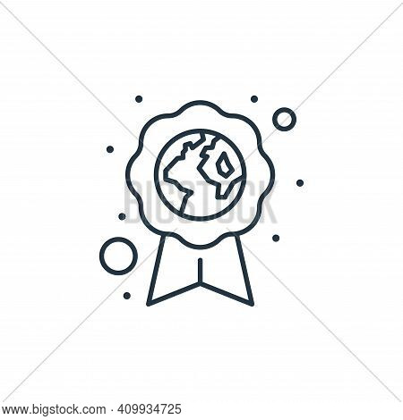 eco friendly icon isolated on white background from earth day collection. eco friendly icon thin lin