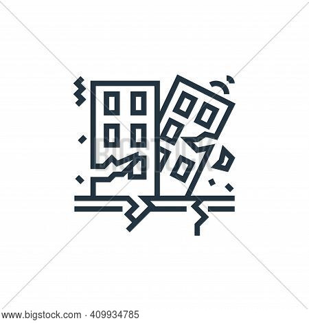 earthquake icon isolated on white background from business risks collection. earthquake icon thin li