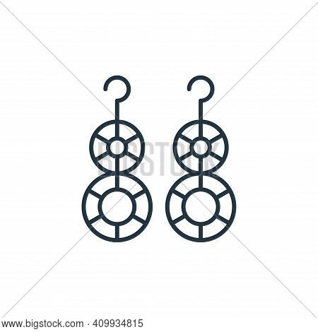 earrings icon isolated on white background from accessory collection. earrings icon thin line outlin