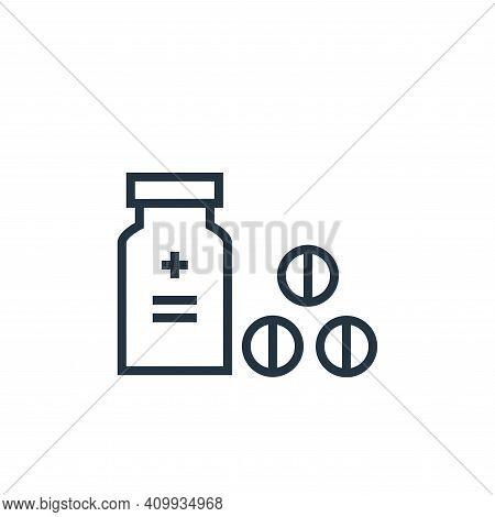 drugs icon isolated on white background from hospital collection. drugs icon thin line outline linea