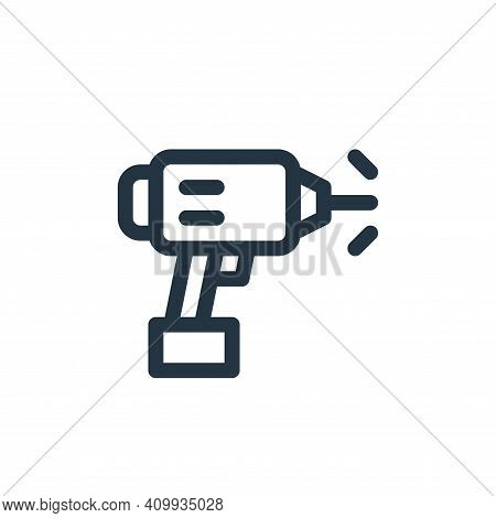 drill icon isolated on white background from labour day collection. drill icon thin line outline lin