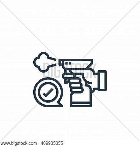 disinfect icon isolated on white background from coronavirus collection. disinfect icon thin line ou