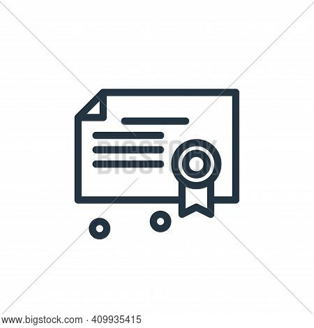 diploma icon isolated on white background from business collection. diploma icon thin line outline l