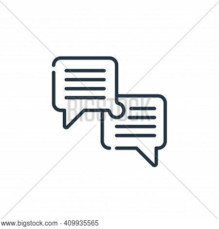 dialogue icon isolated on white background from life skills collection. dialogue icon thin line outl