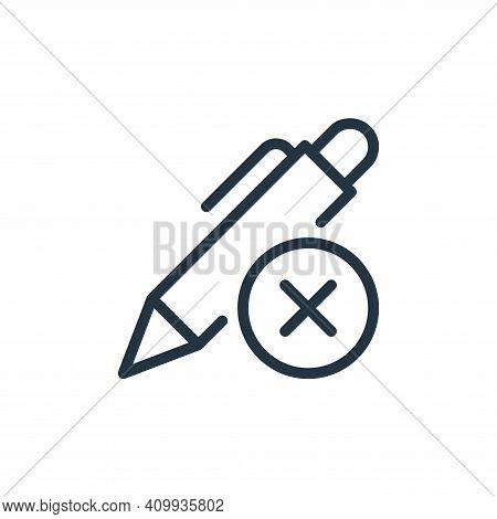 delete icon isolated on white background from work office supply collection. delete icon thin line o