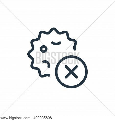 delete icon isolated on white background from coronavirus collection. delete icon thin line outline