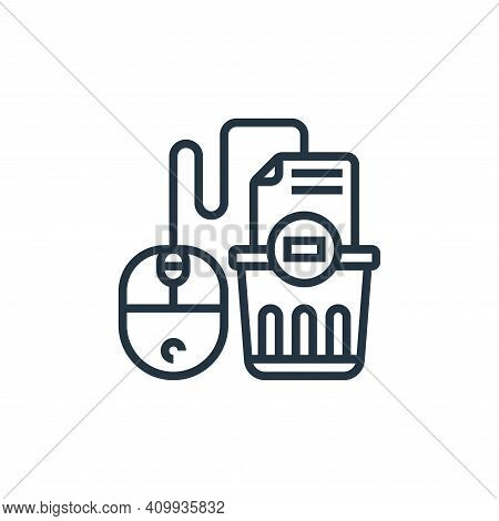delete icon isolated on white background from confidential information collection. delete icon thin
