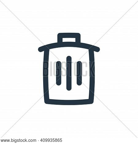 delete icon isolated on white background from basic ui collection. delete icon thin line outline lin