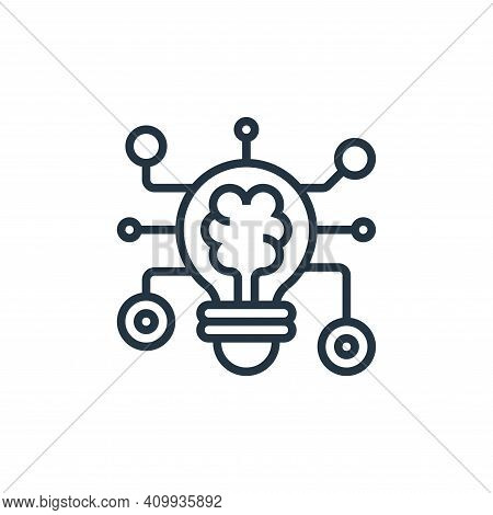 deep learning icon isolated on white background from data analytics collection. deep learning icon t
