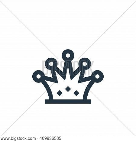crown icon isolated on white background from history collection. crown icon thin line outline linear