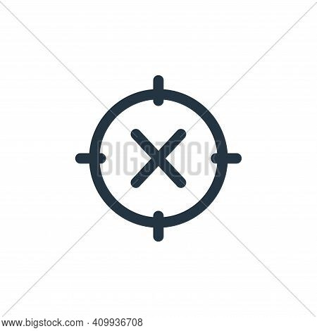 crossed icon isolated on white background from web apps seo collection. crossed icon thin line outli