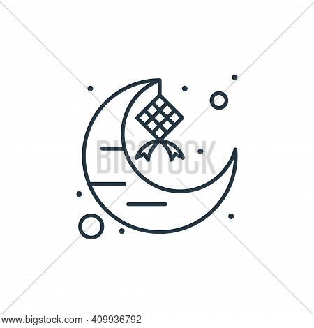 crescent moon icon isolated on white background from islam and ramadan collection. crescent moon ico