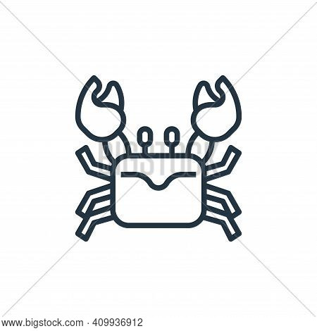 crab icon isolated on white background from seafood collection. crab icon thin line outline linear c