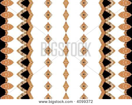 eine Dekoration Gold/schwarz