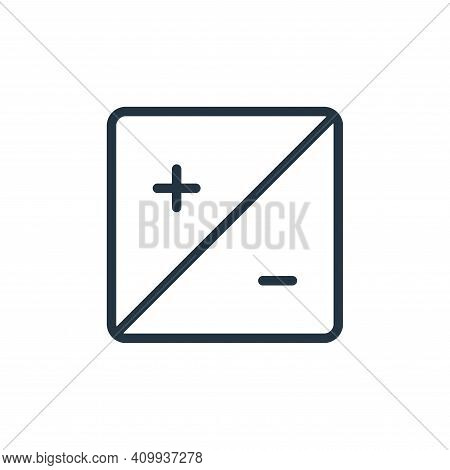 contrast icon isolated on white background from photography collection. contrast icon thin line outl