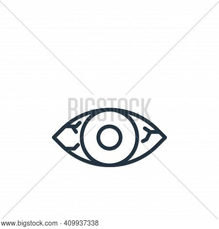 conjunctivitis icon isolated on white background from coronavirus collection. conjunctivitis icon th
