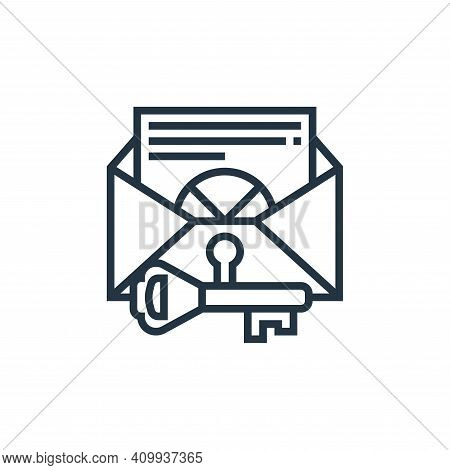 confidentiality icon isolated on white background from confidential information collection. confiden
