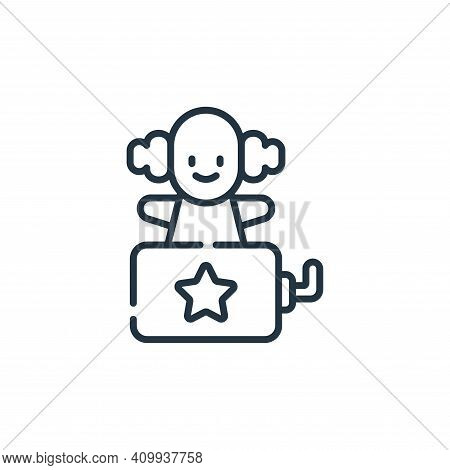 clown icon isolated on white background from children toys collection. clown icon thin line outline