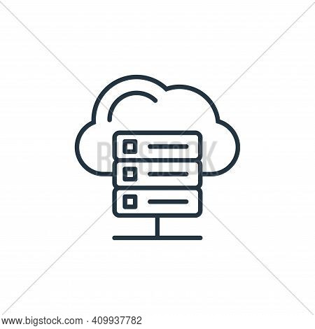 cloud server icon isolated on white background from internet of things collection. cloud server icon