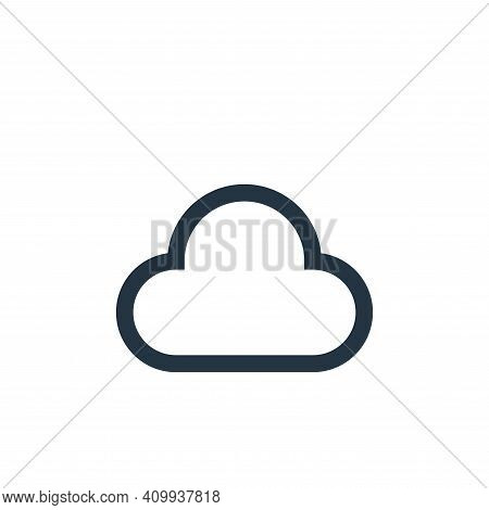 cloud icon isolated on white background from email collection. cloud icon thin line outline linear c