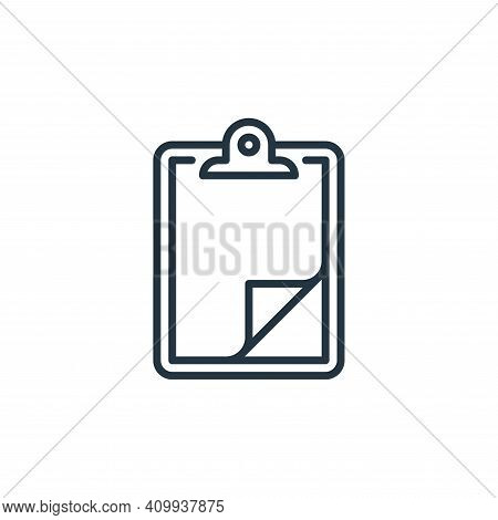 clipboard icon isolated on white background from management collection. clipboard icon thin line out