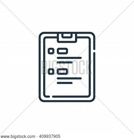 clipboard icon isolated on white background from calendar and date collection. clipboard icon thin l