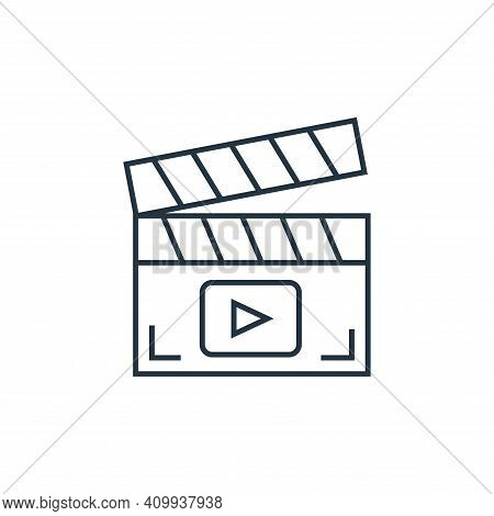clapperboard icon isolated on white background from technology devices collection. clapperboard icon