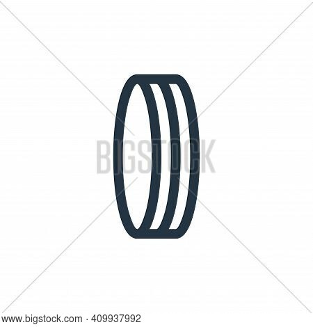 circle icon isolated on white background from pilates collection. circle icon thin line outline line