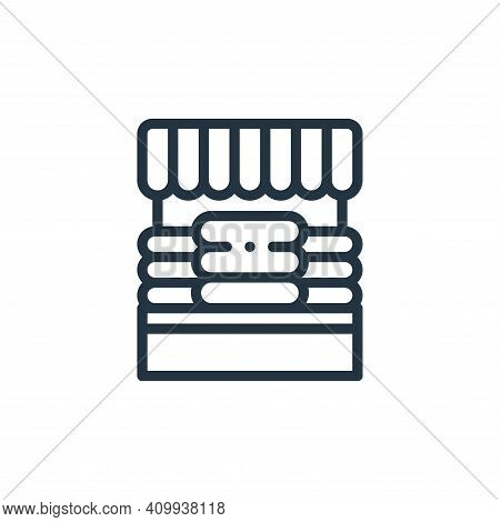 cheese market icon isolated on white background from holland collection. cheese market icon thin lin