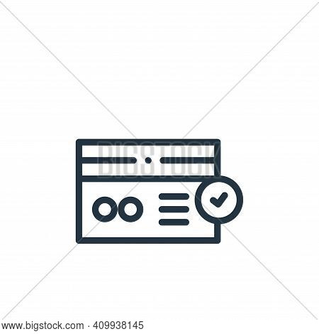 checked icon isolated on white background from online shopping collection. checked icon thin line ou