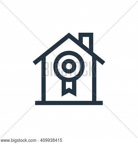 certified icon isolated on white background from real estate collection. certified icon thin line ou