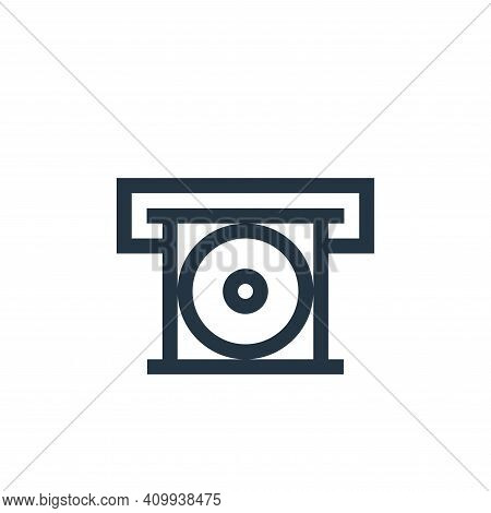 cd player icon isolated on white background from electronics collection. cd player icon thin line ou