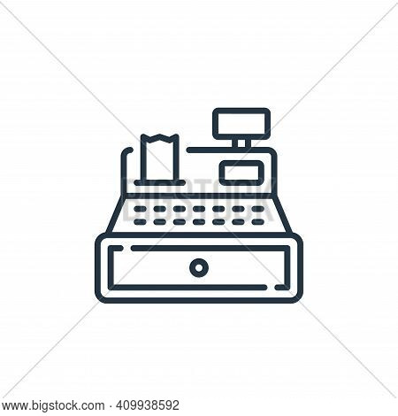 cashier icon isolated on white background from mall collection. cashier icon thin line outline linea