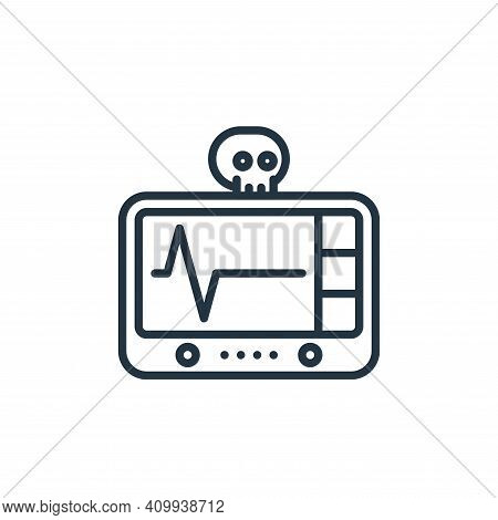 cardiogram icon isolated on white background from funeral collection. cardiogram icon thin line outl