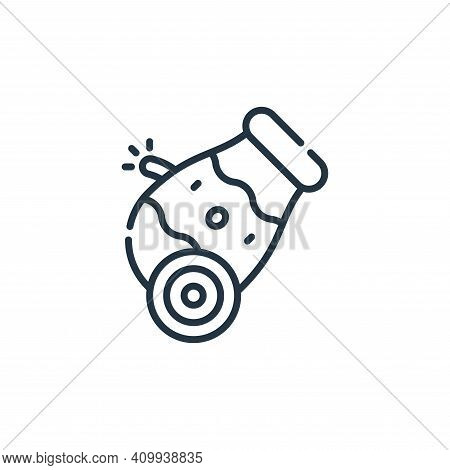 cannon icon isolated on white background from circus collection. cannon icon thin line outline linea