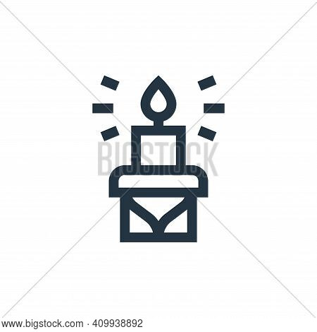 candle icon isolated on white background from ramadan collection. candle icon thin line outline line