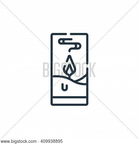 candle icon isolated on white background from hope collection. candle icon thin line outline linear