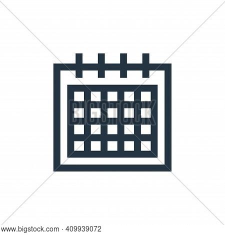 calendar icon isolated on white background from mental health collection. calendar icon thin line ou