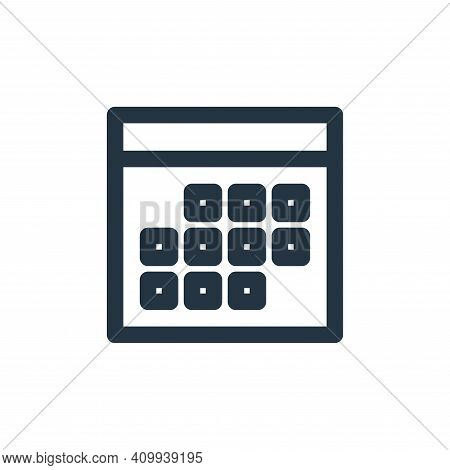 calculator icon isolated on white background from marketing business collection. calculator icon thi