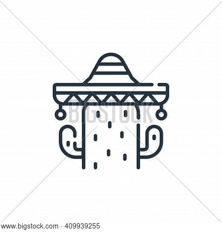 cactus icon isolated on white background from mexico collection. cactus icon thin line outline linea