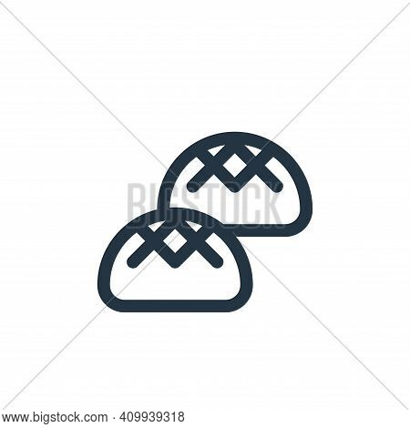 buns icon isolated on white background from gastronomy collection. buns icon thin line outline linea