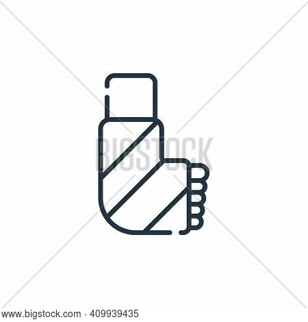 broken leg icon isolated on white background from medical services collection. broken leg icon thin