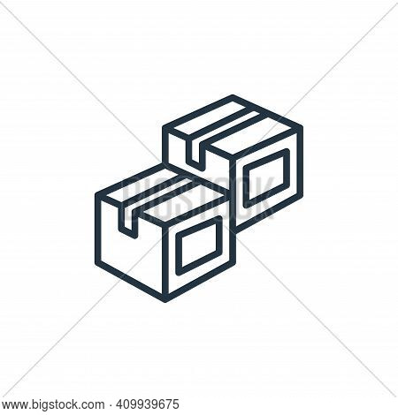 box icon isolated on white background from stationery collection. box icon thin line outline linear