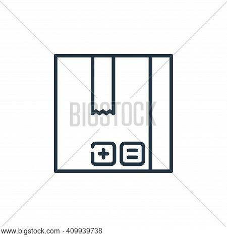 box icon isolated on white background from management collection. box icon thin line outline linear