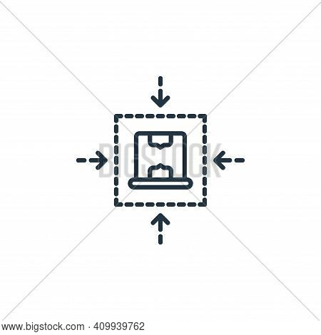 box icon isolated on white background from shipping and delivery collection. box icon thin line outl
