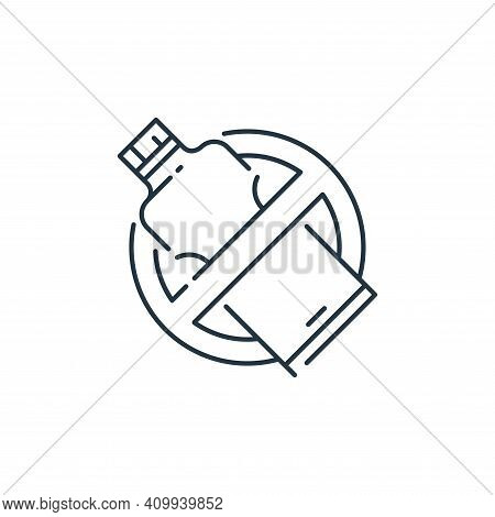 bottle icon isolated on white background from mother earth day collection. bottle icon thin line out