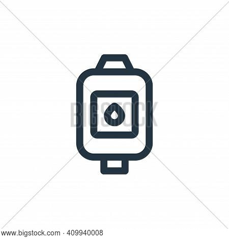 blood bag icon isolated on white background from health collection. blood bag icon thin line outline